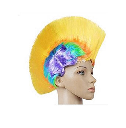 Carnival Costume Party wig bar KTV product action funny hat Colorful comb cock hat 15