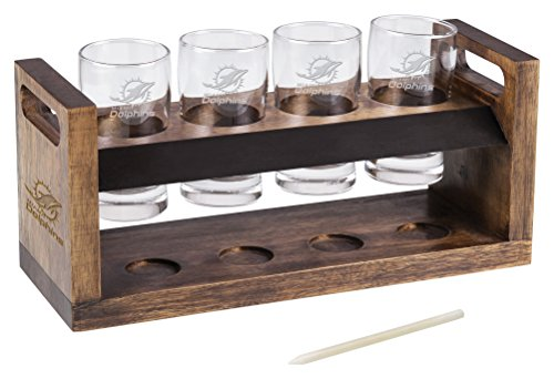 PICNIC TIME NFL Miami Dolphins Craft Beer Four Glass Tasting Set - The Dolphin Beer