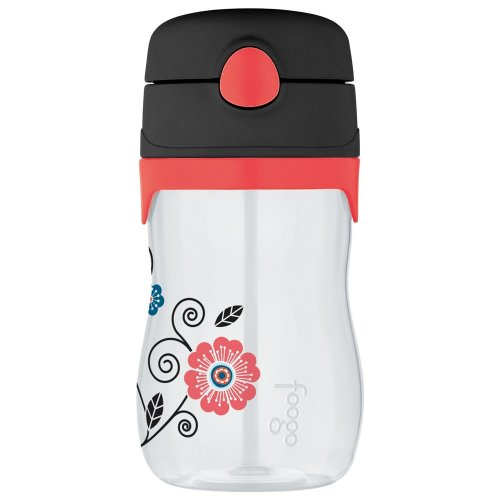 Baby Bottle Pattern - THERMOS FOOGO 11-Ounce Straw Bottle, Poppy Patch Pattern