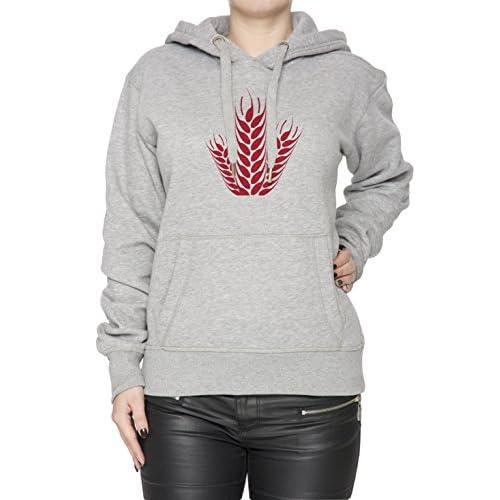 0eb9cf195af08 Planta Roja Gris Algodón Mujer Sudadera Sudadera Con Capucha Pullover Grey  Women s Sweatshirt Pullover Hoodie bajo