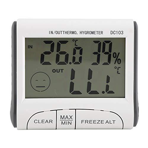FTVOGUE Fridge Thermometer Digital Freezer Temp Monitor LCD Display with Temperature Sensor and Audible Alarm