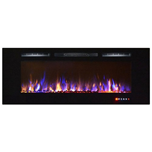 Cheap Bombay 60 Inch Crystal Recessed Touch Screen Multi-Color Wall Mounted Electric Fireplace Black Friday & Cyber Monday 2019