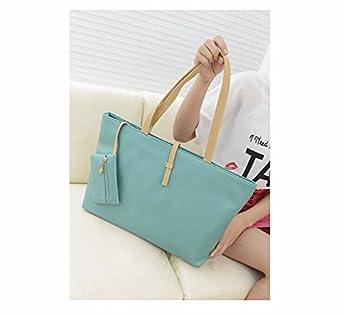 de3b1a049a Amazon.com   DIGIMATE Korean Lady Womens PU Leather Messenger Handbag  Shoulder Bag Totes Purse Hobo - green   Beauty