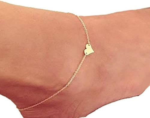 Fashion Gold Plated Ankle Love Anklet Bracelet Foot Chain Jewelry Sandal Beach
