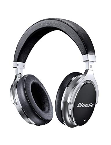 Bluetooth Headphones Active Noise Cancelling, Bluedio F2 ANC Over Ear Wireless Headphones 180° Rotation,Wired and Wireless Headphones for Cell Phone/TV/PC - Black