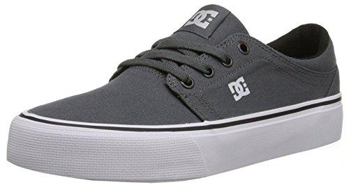 DC Men's Trase TX Unisex Skate Shoe, Grey/Grey/White, 45.5 EU/11 UK