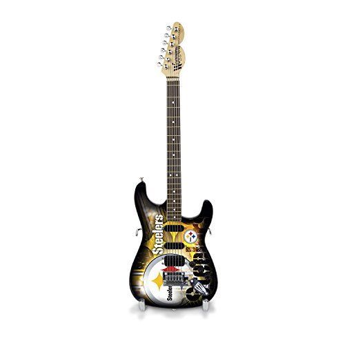 NFL Pittsburgh Steelers Mini Collectible Guitar, 10-Inch x 3-1/4-Inch, - Gibson Amps