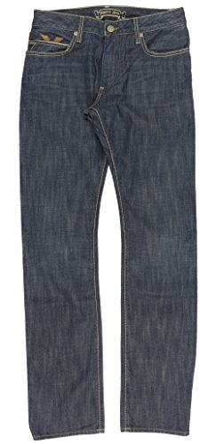 Robin's Jean Studded Chevron Mens Straight Leg Jeans in Denim (Leg Straight Jeans Studded)