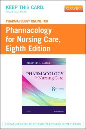 Download Pharmacology Online for Pharmacology for Nursing Care (Retail Access Card), 8e by Lehne PhD, Richard A., Neafsey RD PhD, Patricia, Haugen RN (2012) Cards pdf