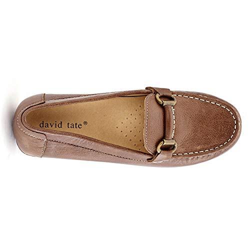 Women's Tumbled On Tate Sable Brown Slip Calf David qxPHRP