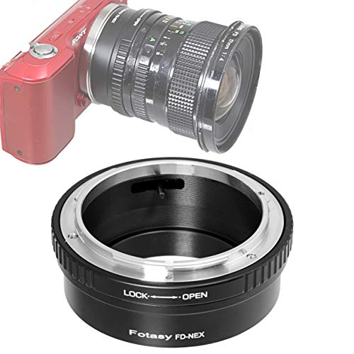 Fotasy FD Lens to Sony E-Mount Adapter, Copper Mount, Compatible with Canon FD Lens & Sony E-Mount Camera NEX-5T NEX-6 NEX-7 a3000 a3500 a5000 a5100 a6000 a6100 a6300 a6400 a6500