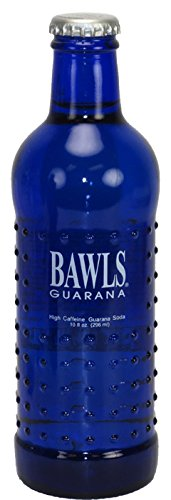 Bawls Guarana High Caffeine Soda, 10 Ounce (12 Glass Bottles)