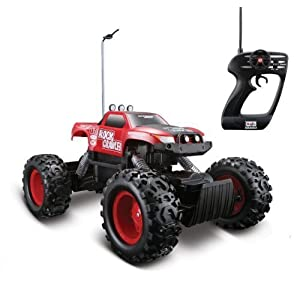 Maisto Tech Red Radio Control Rock Crawler RC Remote Control Race Truck