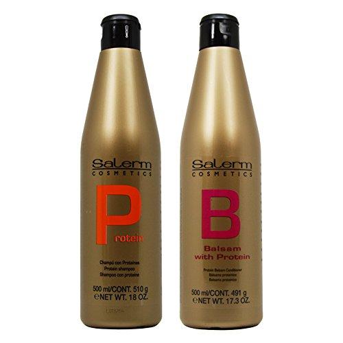 "Salerm Protein Shampoo 18oz & Balsam Conditioner 17.3oz Duo ""Set"""
