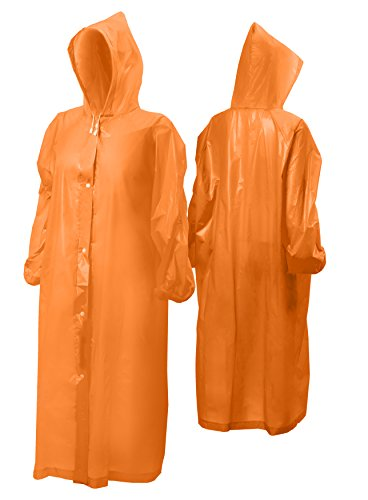 Rain Poncho for Adults|Disposable|Emergency|Reusable|With Sleeves for Women/for Men/Unisex for Outdoors/Disney Rain Poncho for Theme Parks (Disney World Marathon Costumes)