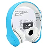 Audited Supplier Kids Headphone,Connect+ Safe Food Grade Material,Volume Limited Wired Headphones SharePort Children Kids Babies (Blue)