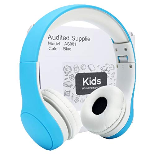 Audited Supplier Kids Headphone,Connect+ Safe Food Grade Material,Volume Limited Wired Headphones SharePort Children Kids Babies (Blue) by Audited Supplier