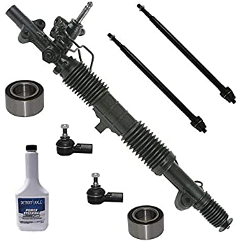 Detroit Axle JAPAN UNIT Complete Power Steering Rack /& Pinion Assembly All 4 Inner /& Outer Tie Rod Ends