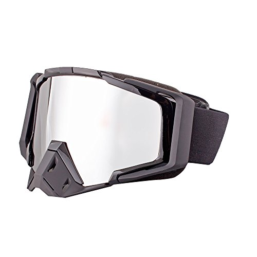 LINSUN Adult Motorcycle /Off-Road/Dirt Bike Safety Goggles (Black & mercury - Mercury Goggles