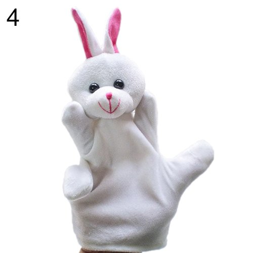 [Delicate Baby Child Zoo Farm Animal Hand Glove Puppet Finger Sack Plush Toy^rabbit.] (Diy Elephant Halloween Costume)