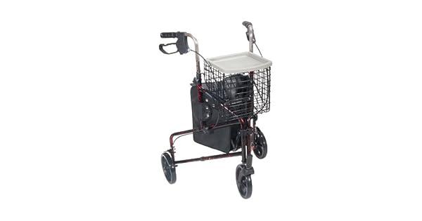 Amazon.com: Andador de 3 ruedas, 10289RD, Universal, Rojo ...