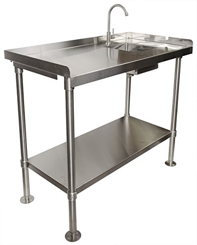 RITE-HITE Stainless-Steel Fillet Cleaning Table - Made in The USA, Heavy Duty Fillet Table to Handle All Your Cleaning Needs (Steel Stainless Drainboards)