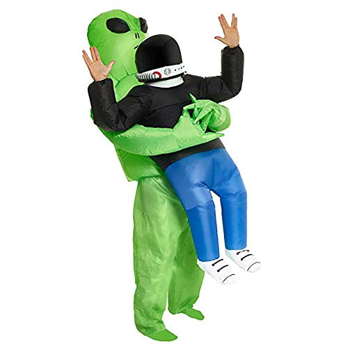 Danlit Inflatable Costume for Adults and Kids, The Pick Me Up Alien Halloween Costume Blow Up Costume (Adults) ()