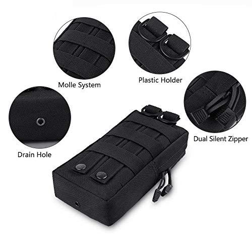 2 pack Molle Pochettes – tactique Compact résistant à l'eau multifonction EDC Utility Gadget Gear à suspendre Sacs de… 3