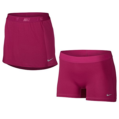 Nike Zonal Cooling Swing Knit Golf Skort 2017 Womens Sport Fuchsia/Vivid Pink/Flat Silver Small (Nike Knit Skirt)