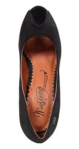 Zapatos de tacón de Mujer MTNG 53212 TEX SUEDE BLACK