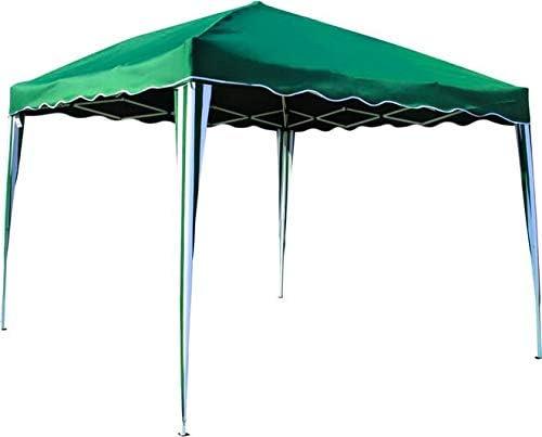 TATA LINDA - Cenador de jardín de 3 x 3 Metros + Parte Superior de poliéster de Color Verde: Amazon.es: Jardín