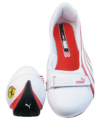 PUMA Espera III SF Ferrari Nu Womens Leather Ballerina Pumps/Shoes - White 7