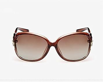 NHDZ Dama Gafas Nuevas Gafas De Sol Polarizados, Tendencia, Personalidad, Retro Polaroid El Espejo Retrovisor, Grandes Gafas De Montura Negra Brillante,Tan ...