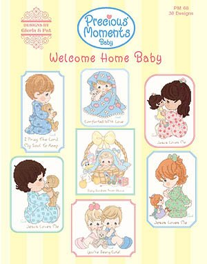 PM68 Welcome Home Baby - Precious Moments Cross Stitch