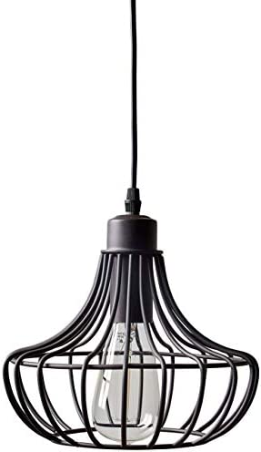 Amazon Brand Stone Beam Metal Cage Single Hanging Ceiling Pendant Chandelier Fixutre