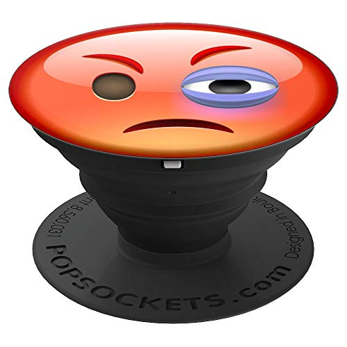 Cute Emoji Face With One Black Eye, Hurt Emoticon Best Gift - PopSockets Grip and Stand for Phones and Tablets
