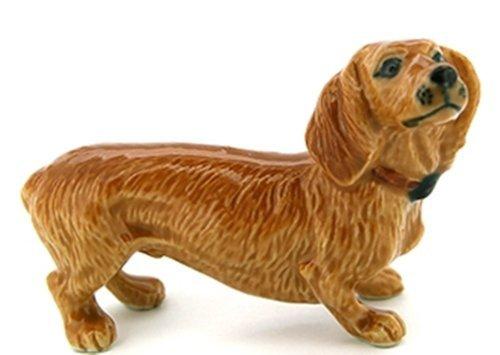 3 D Ceramic Toy Brown Dachshund Dog size M1 Dollhouse Miniatures Free Ship by ChangThai (Mickey Mini Album)