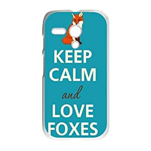 ZK-SXH - Love Fox Diy Cell Phone Case for Motorola G, Love Fox Personalized Case