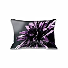 Cotton Polyster Throw Pillow cases Decorative Nature Standard Queen pillowcases Design with Purple Chrysanthemum Macro, Home soft Flowers Cushion Cover 20x30 Inch