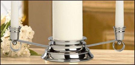 Unity Candle Holder-Slvr