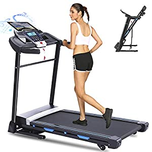 Well-Being-Matters 41eYMJMdZ7L._SS300_ ANCHEER Folding Treadmill, 3.25HP Electric Motorized Treadmills with Automatic Incline, Walking Running Jogging Running…