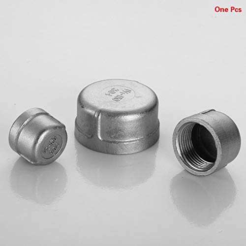 Maslin 304 Stainless Steel Metric Hydraulic end caps Pipe Fittings 1/8'' 1/4'' 3/8'' 1/2'' 3/4'' 1'' 1-1/4'' 1-1/2'' bspp Female Thread - (Thread Specification: 4'')