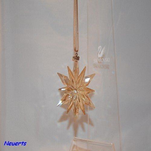 Swarovski Weihnachtsstern 2011 SCS gold Christmas Ornament 2011 1092040 AP2011