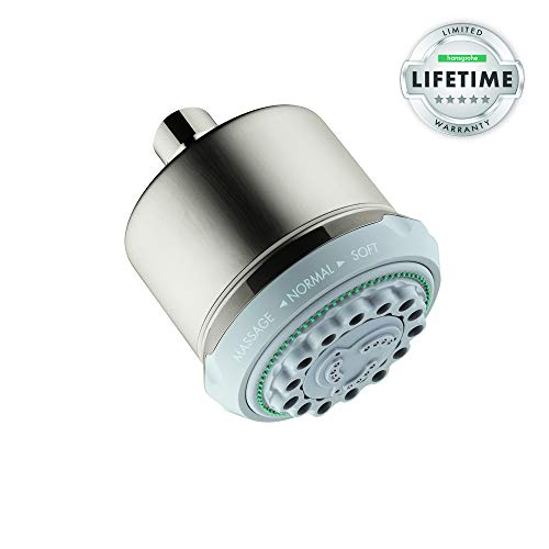 Hansgrohe 28496821 Clubmaster Shower Head, Brushed Nickel from Hansgrohe
