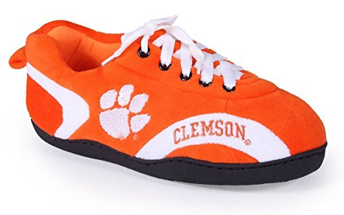 CLE05-1 - Clemson Tigers - Small - Happy Feet Mens and Womens All Around Slippers