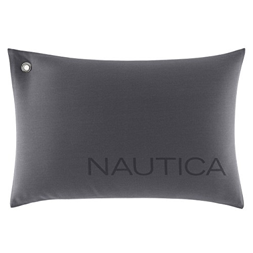 Nautica Seaward Breakfast Pillow, 14x20, Grey