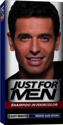 Just for Men shampooing-la couleur des cheveux, Brown Moyen-Dark 40, 1 application (Pack de 3)