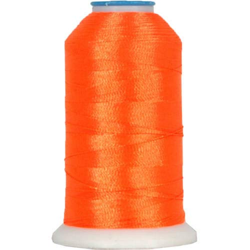 Threadart Polyester Machine Embroidery Thread By the Spool - No. 946 - Neon Orange - 1000M - 220 Colors Available