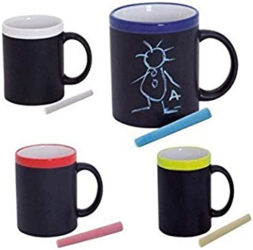 Lote de 10 Tazas Pizarra para Colorear Pintar con Tiza + Caja - Tazas Manualidades Infantiles, perfectas Regalos cumpleaños Infantiles Originales