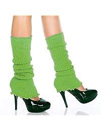 MUSIC LEGS Women's Ribbed Acrylic Footless Leg Warmers